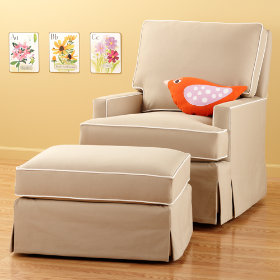 Mod Nod Swivel Glider &amp; Ottoman (Sand)