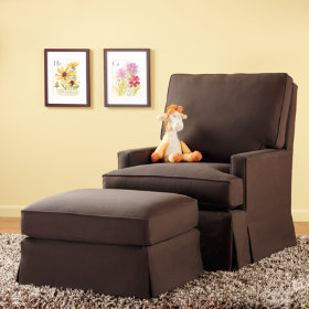 Mod Nod Swivel Glider & Ottoman (Chocolate)