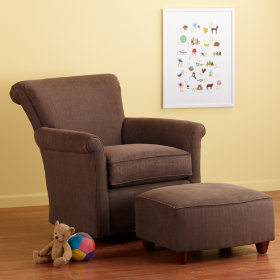 Swivel Glider &amp; Ottoman (Cafe)