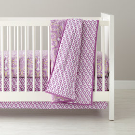 Mosaic Paisley Crib Bedding (Lavender)