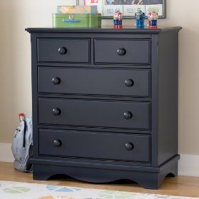 Walden 2-Over-3 Dresser (Midnight Blue)