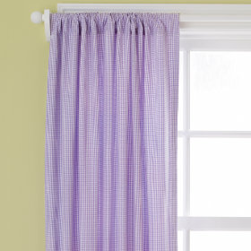 Checks, Please Curtain Panels (Small Gingham, Lavender)