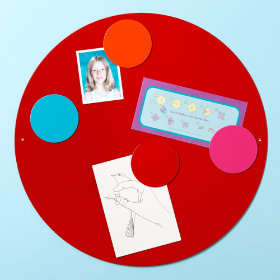 Perfect Circle Magnet Boards (Red)