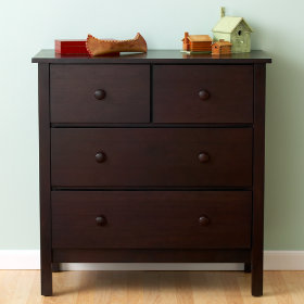 Simple 2-Over-2 Dresser (Espresso)