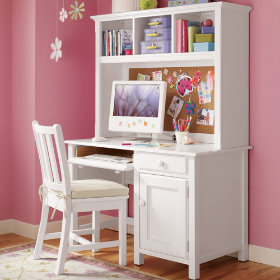 Walden Desk & Hutch (White)
