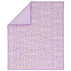 Mosaic Paisley Crib Blanket (Lavender)