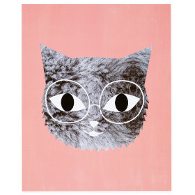 Fur and Glasses Wall Art