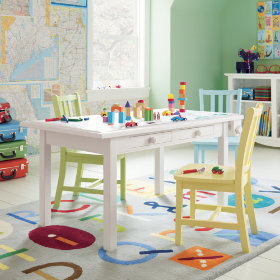 Activity Table w/Paper Roller (White)