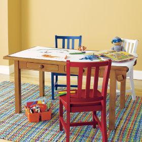 Activity Table w/Paper Roller (Lt. Honey)
