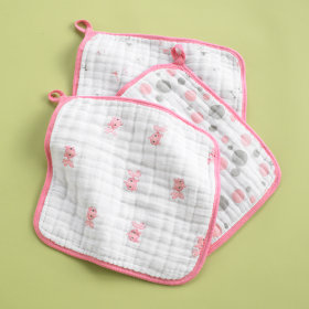 Pink Wash Up Washcloths (Set of 3)