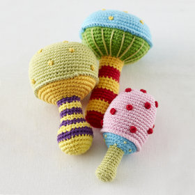 Mushroom Rattles (Set of 3)