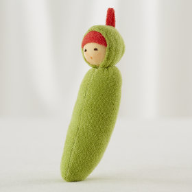 Green Pea Baby Rattle