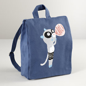 Blabla® Bandit Canvas Backpack (Raccoon)