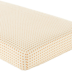 Crib Fitted Sheet (Yellow with Orange Dot)
