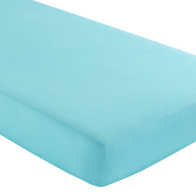 Crib Fitted Sheet (Aqua)