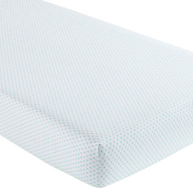 Crib Fitted Sheet (Aqua Diamond Print)