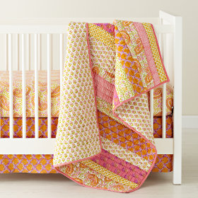 Handpicked Patchwork Reversible Crib Skirt