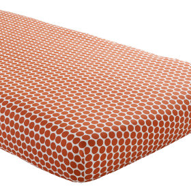 Crib Fitted Sheet (Orange Dot)