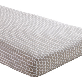 Crib Fitted Sheet (Khaki Dot)