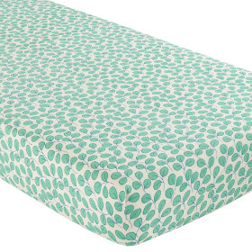 Crib Fitted Sheet (Green Leaf)