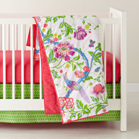 Singing in the Rainforest Reversible Crib Skirt
