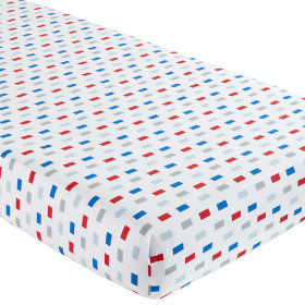 Crib Fitted Sheet (Multi Block Print)