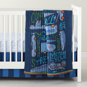 Transit Authority Crib Bedding