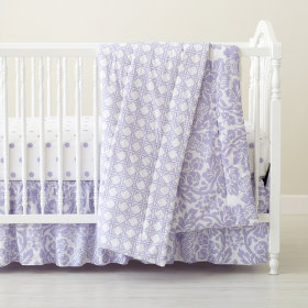 With a Flourish Crib Skirt (Lavender)