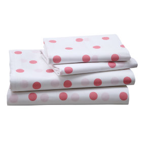 Polka Dot Sheet Set (Pink)