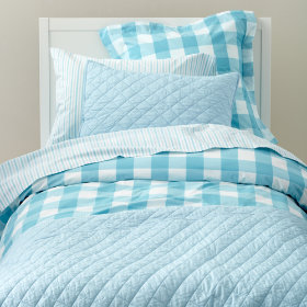 Breezy Gingham Bedding (Blue)