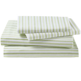 Breezy Stripe Sheet Set (Green)
