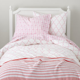 In the Mix Duvet Cover (Pink)