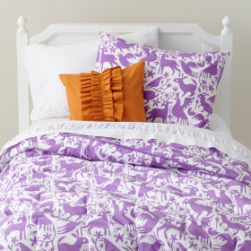 Animáles Grafico Filled Comforter (Lavender)