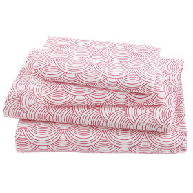 Scalloped Sheet Set (Pink)