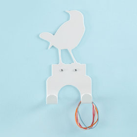 Birds Eye Wall Hook (White)