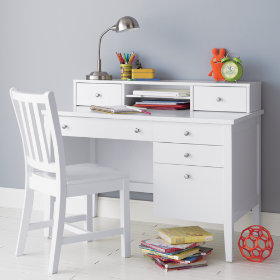 Blake Desk & Hutch (White)