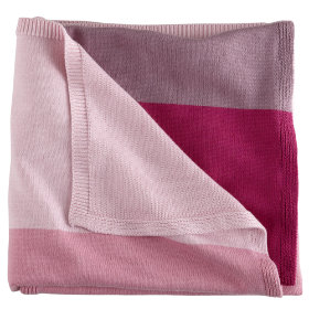 Knit Ombre Blanket (Pink)