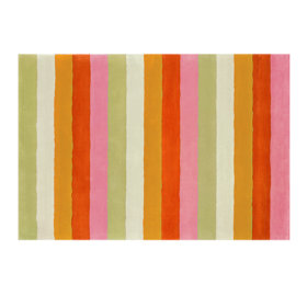Bold Stripe Rug (Pink/Orange)