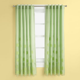 Tiny Bubbles Curtain Panels (Green)