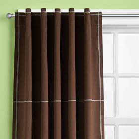 Canvas Curtain Panels (Brown)