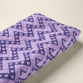 Changer Pad Cover (Purple Zigzag)