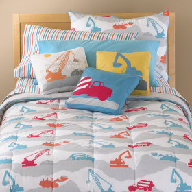 Construction Zone Print Filled Comforter