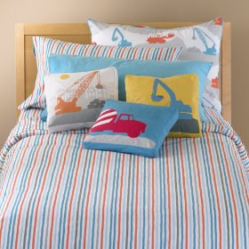 Construction Zone Stripe Duvet Cover