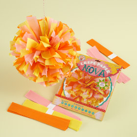 Yellow Hanging Paper Blooms Kit