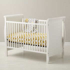 Sleigh Crib (White)