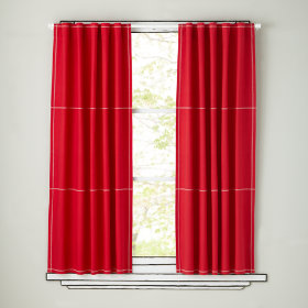 Canvas Curtain Panels (Red)