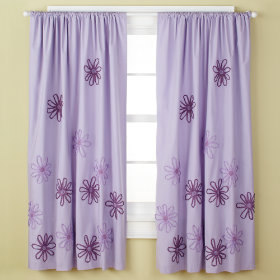 Pocket Full of Posies Curtain Panels (Lavender)