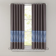 63 New School Curtain Panel (Blue Stripe)