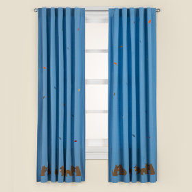 Bright Eyed, Bushy Tailed Curtain Panels