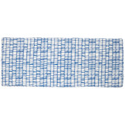 Modern 3-Cube Bench Cushion (Blue)